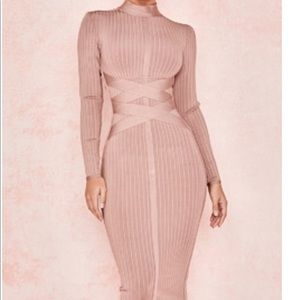 House of CB DRESS: CARRERA' MINK BANDAGE DRESS